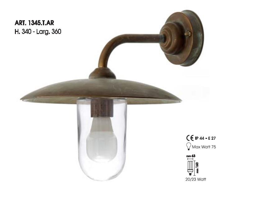 Lampada per esterni art t ar italian style shopping