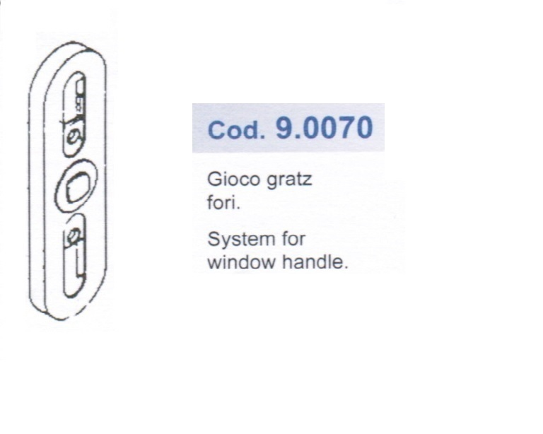 Meccanismo per maniglia cremonese cod italian style shopping - Meccanismo cremonese finestra ...
